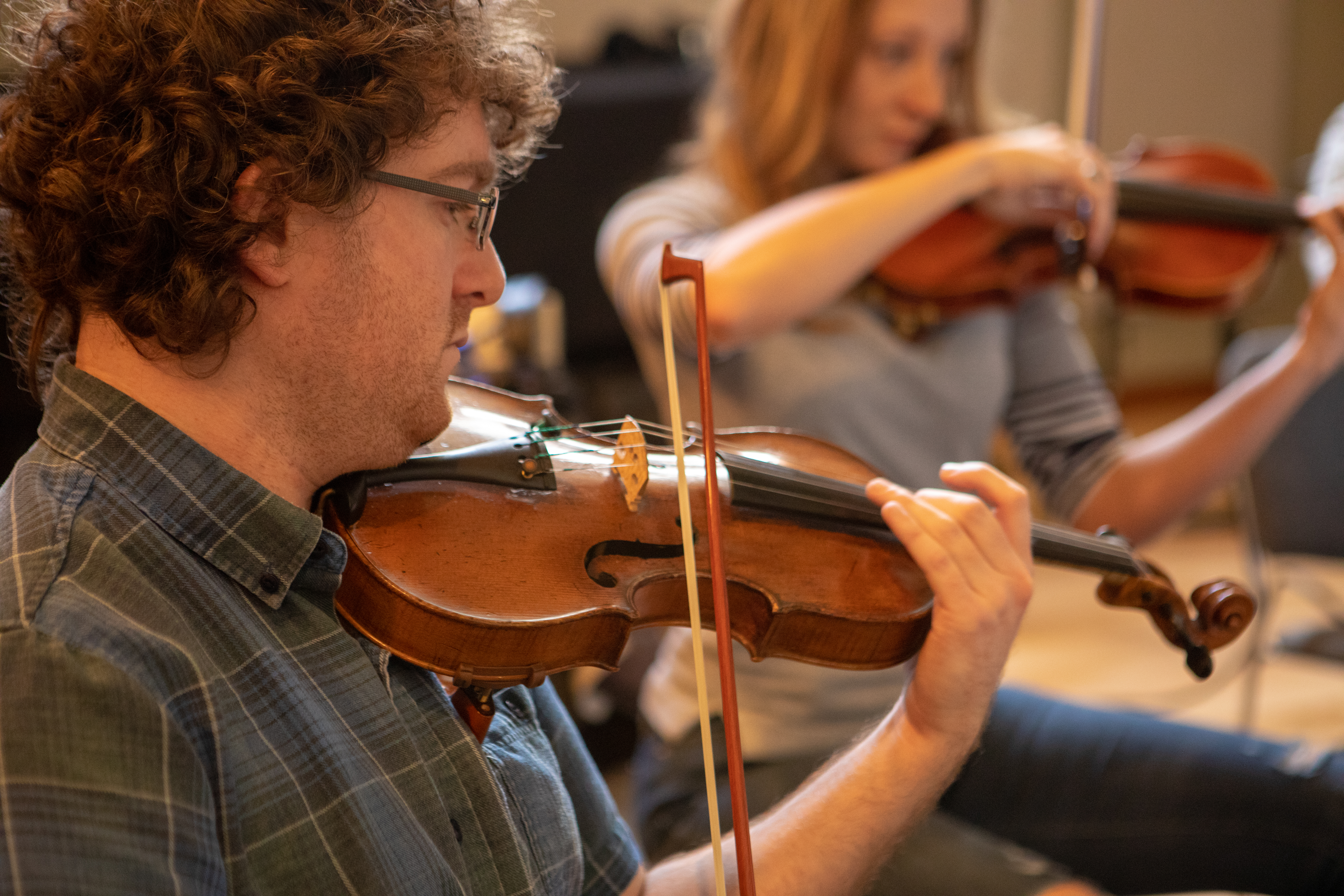 Strings Day for The Love Bugs score, Tom Yaron, violinist