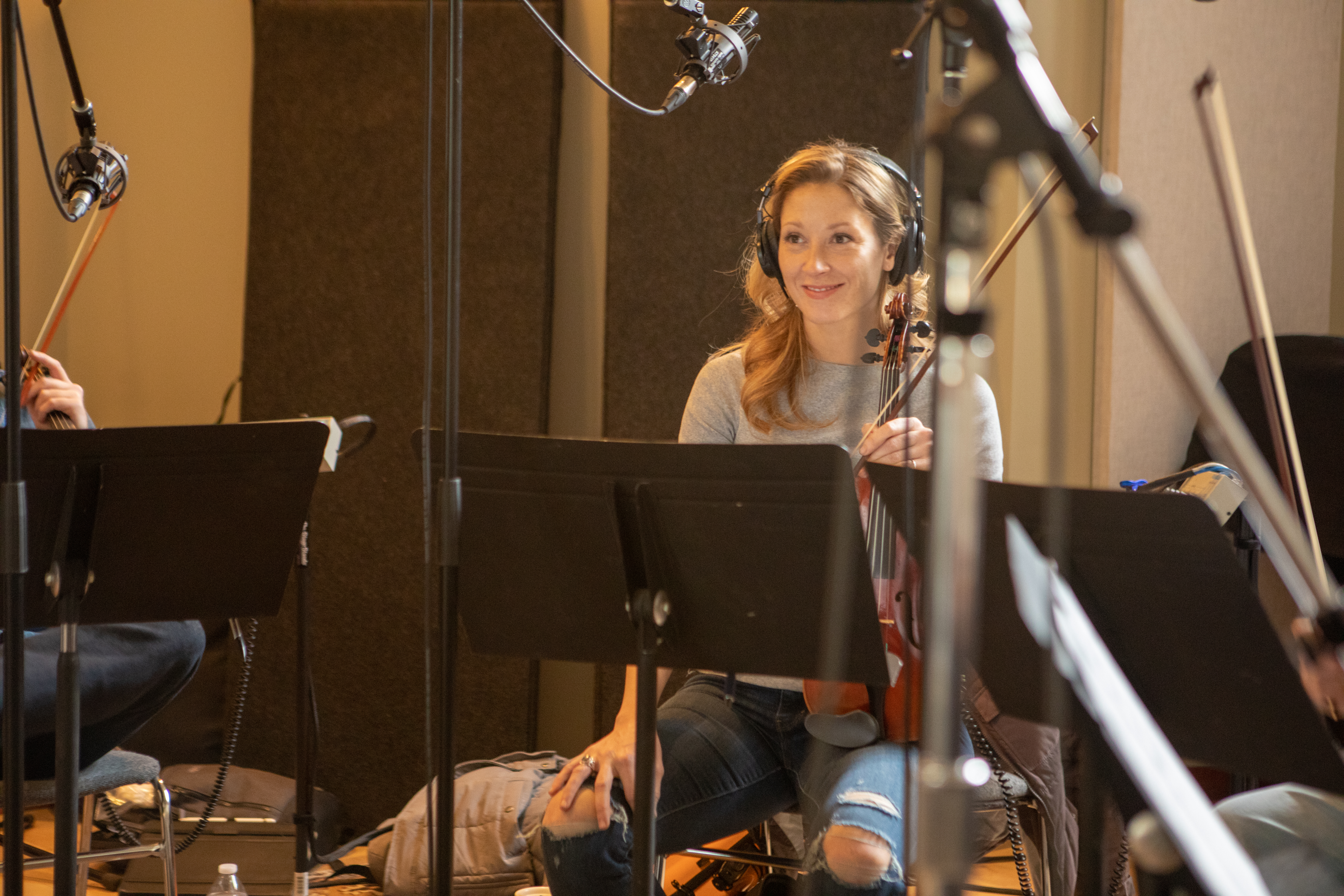 Strings Day for The Love Bugs score, Renée Patten, violinist